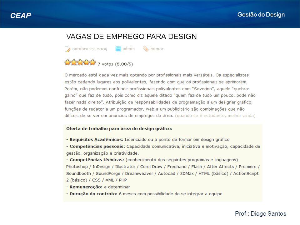 VAGAS DE EMPREGO PARA DESIGN