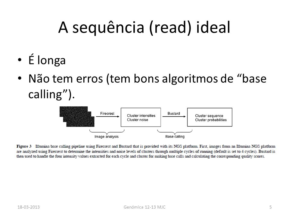A sequência (read) ideal