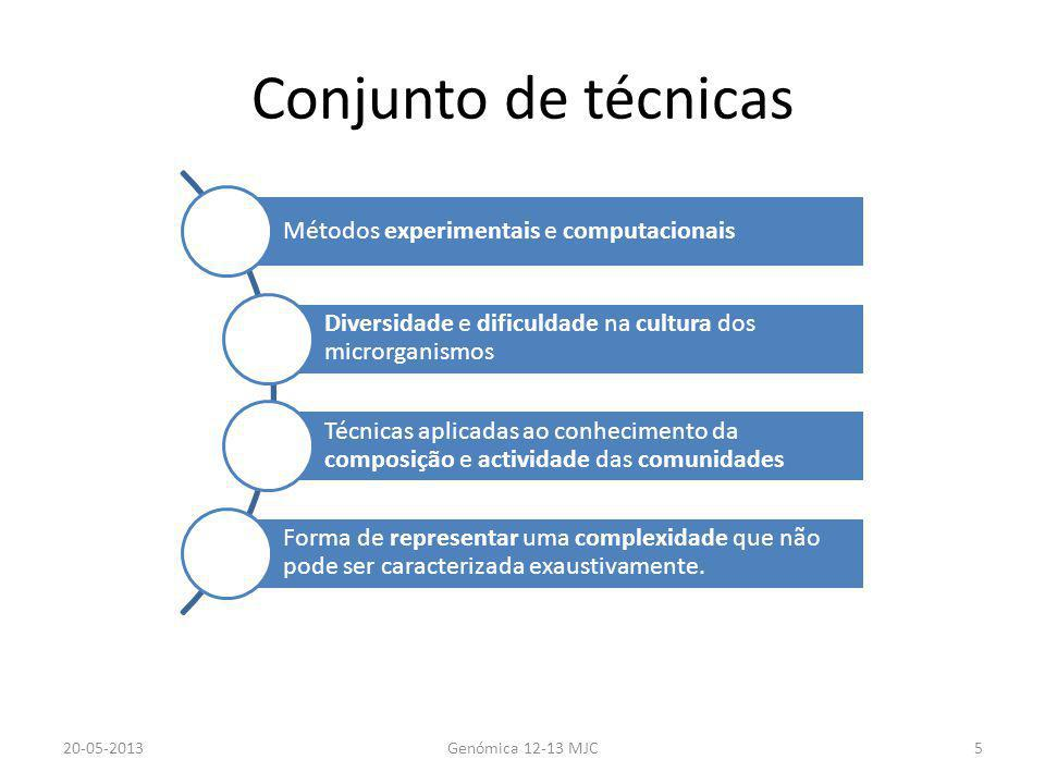 Conjunto de técnicas Métodos experimentais e computacionais