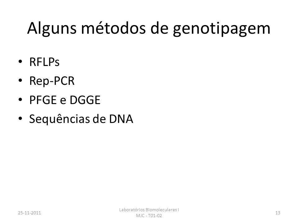 Alguns métodos de genotipagem