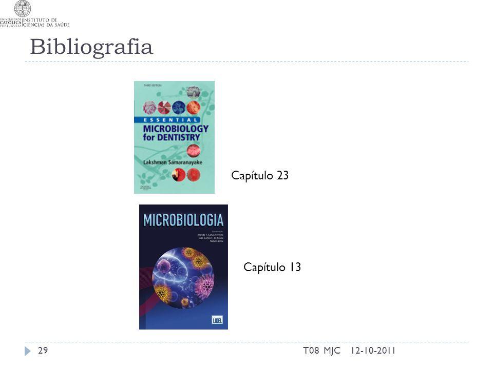 Bibliografia Capítulo 23 Capítulo 13 T08 MJC 12-10-2011