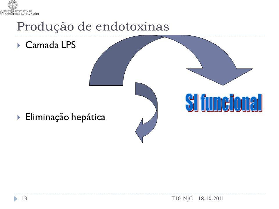 Produção de endotoxinas