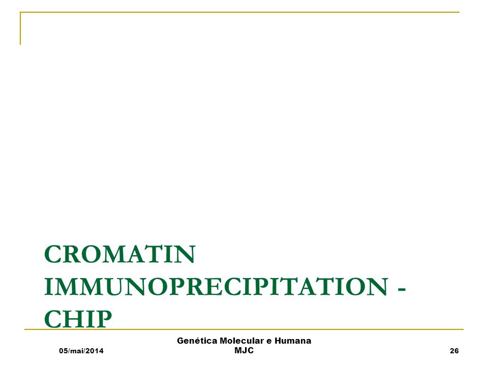 Cromatin immunoprecipitation -chip