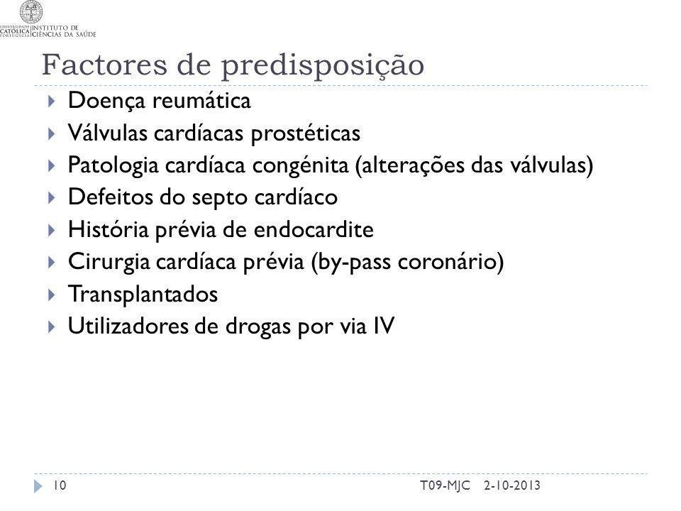 Factores de predisposição