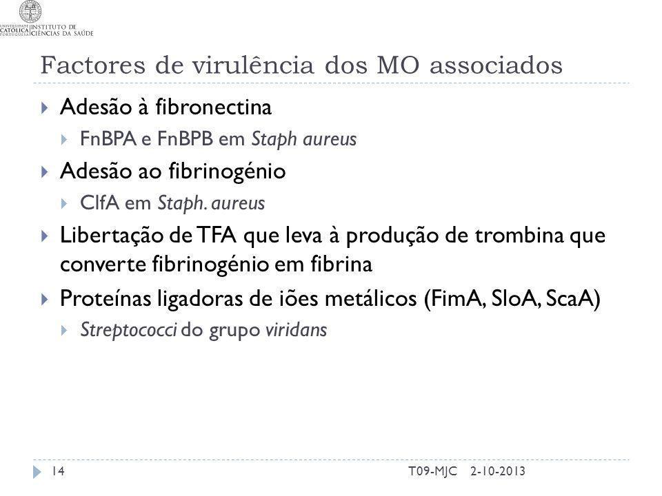Factores de virulência dos MO associados