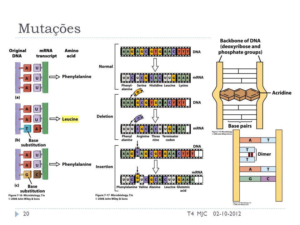 Mutações T4 MJC 02-10-2012