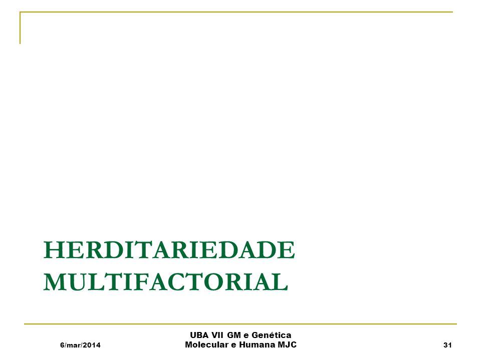Herditariedade Multifactorial