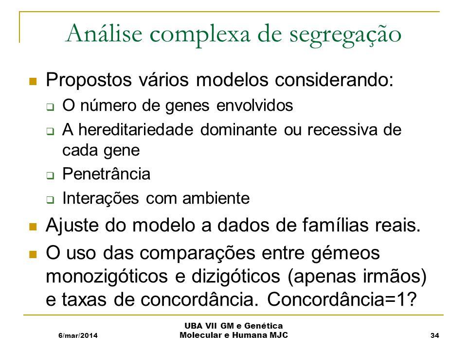 Análise complexa de segregação