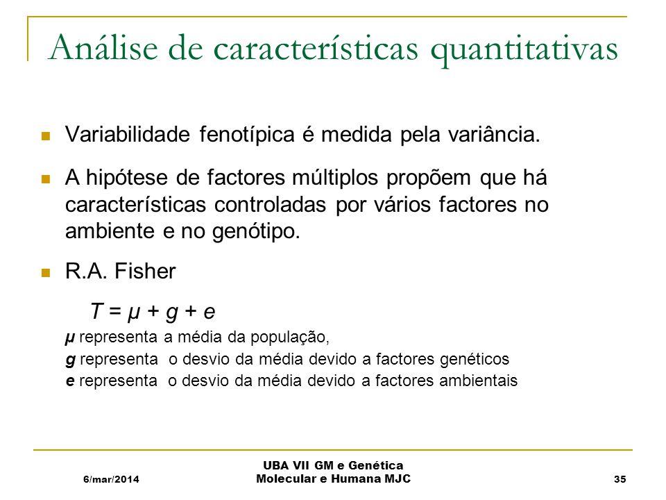 Análise de características quantitativas