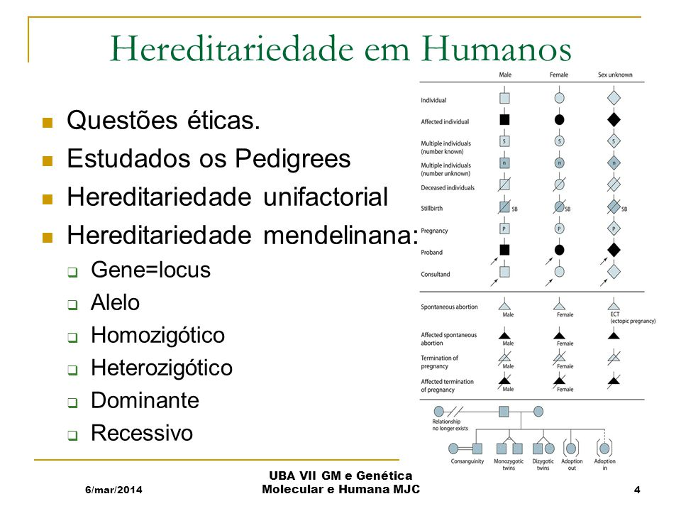 Hereditariedade em Humanos