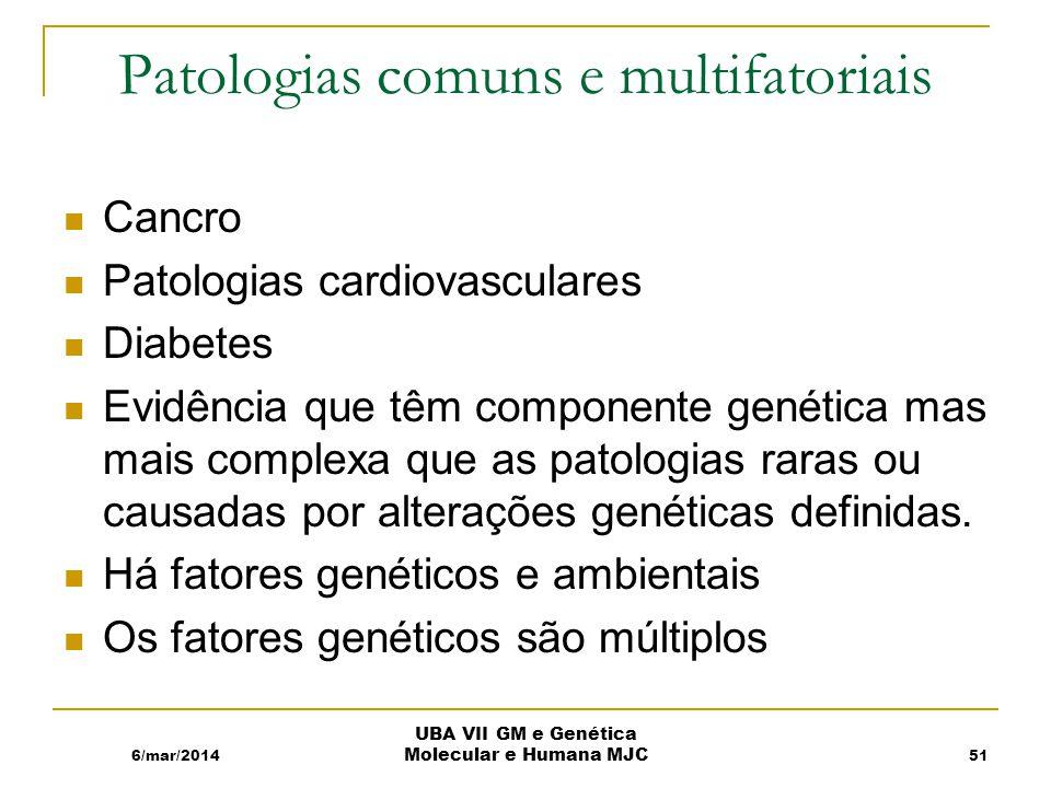Patologias comuns e multifatoriais