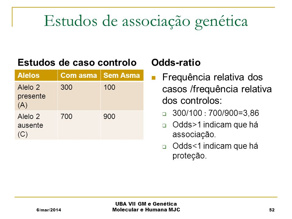 Estudos de associação genética