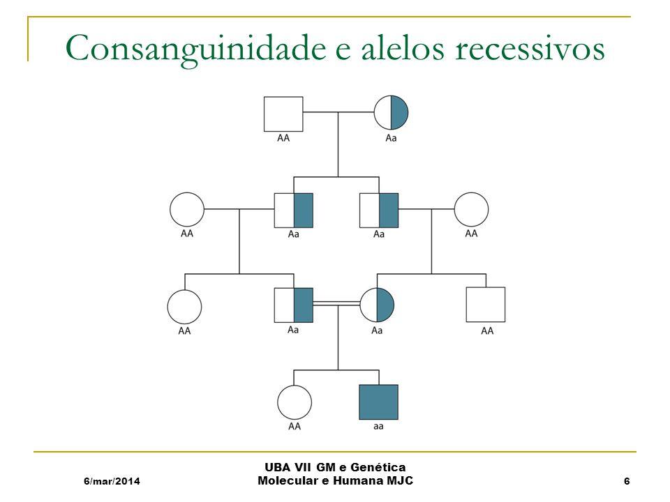 Consanguinidade e alelos recessivos