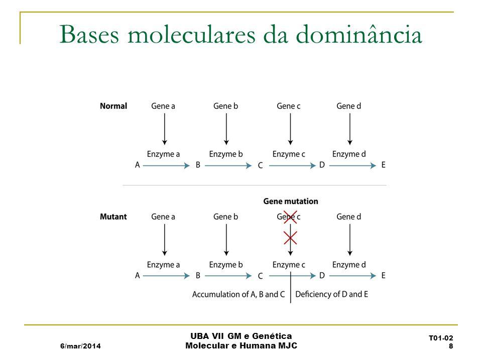 Bases moleculares da dominância