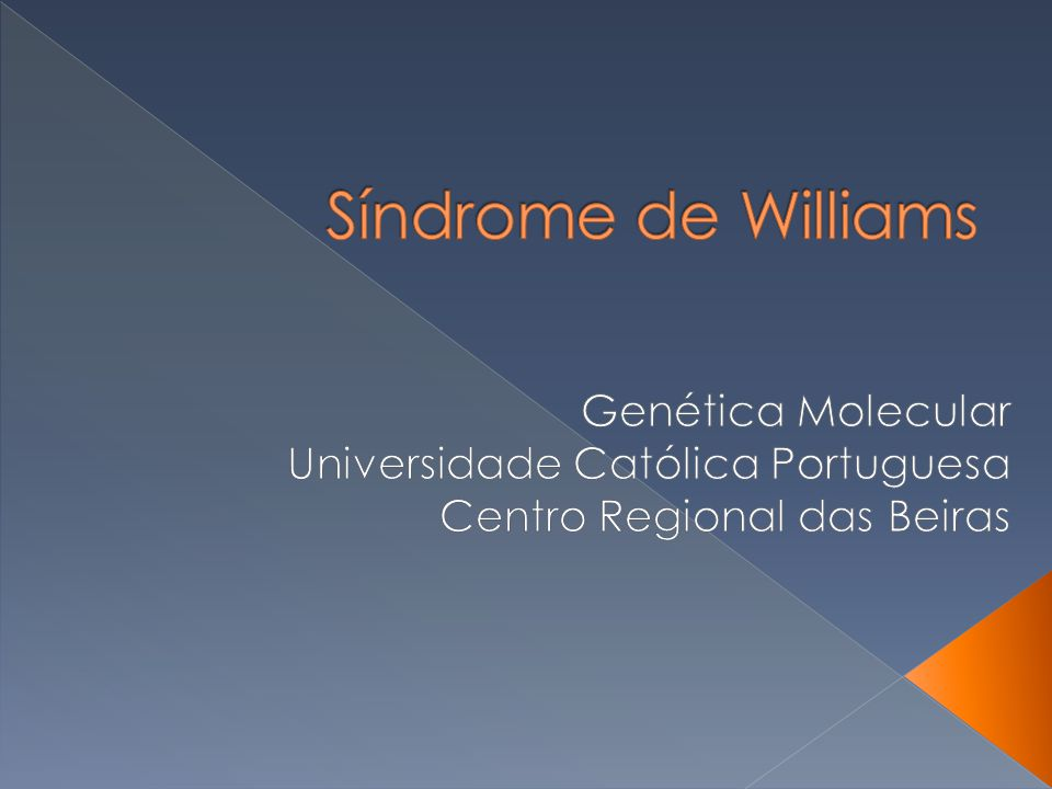 Síndrome de Williams Genética Molecular