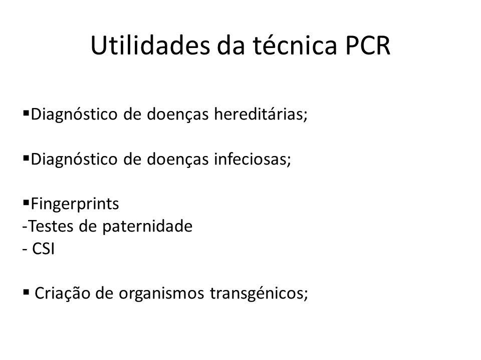 Utilidades da técnica PCR
