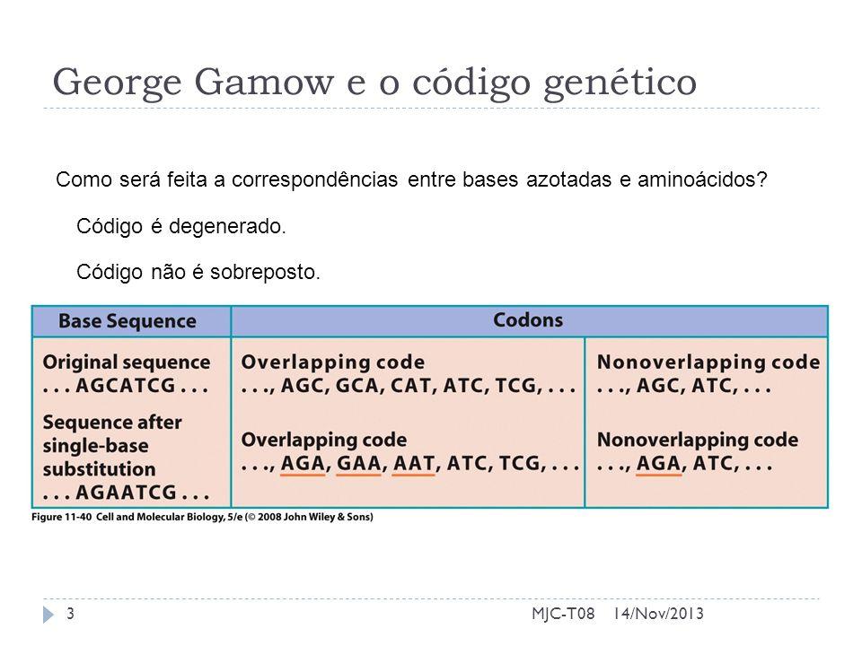 George Gamow e o código genético
