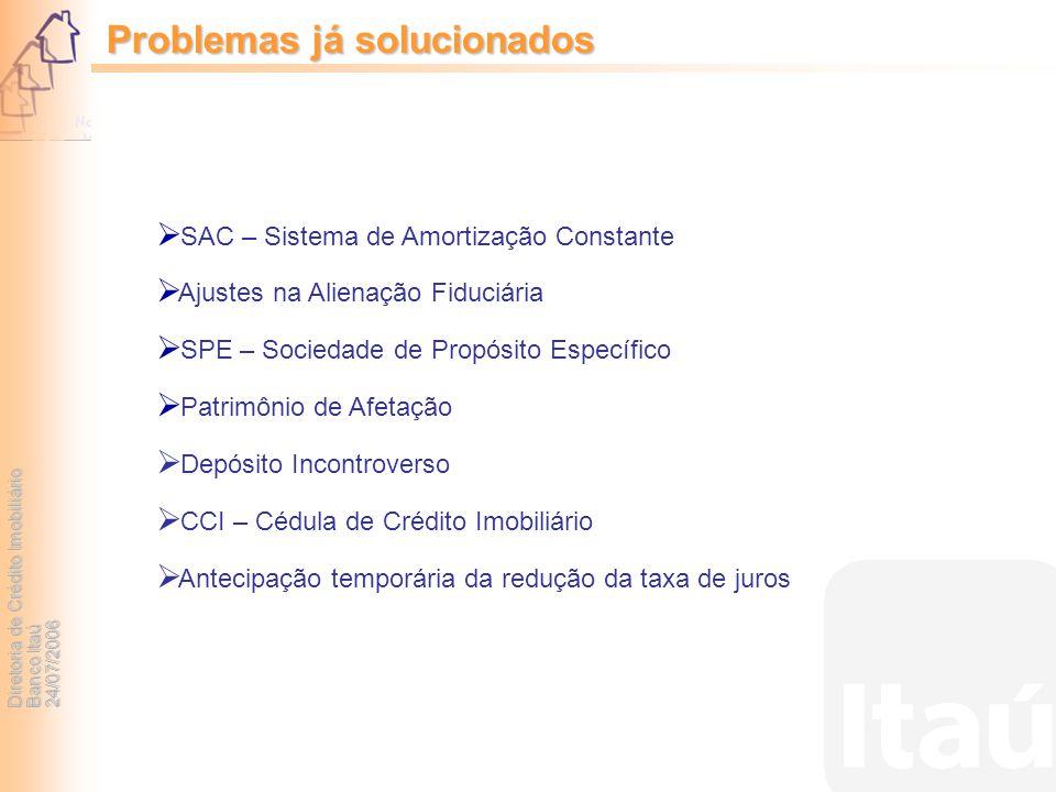 Problemas já solucionados