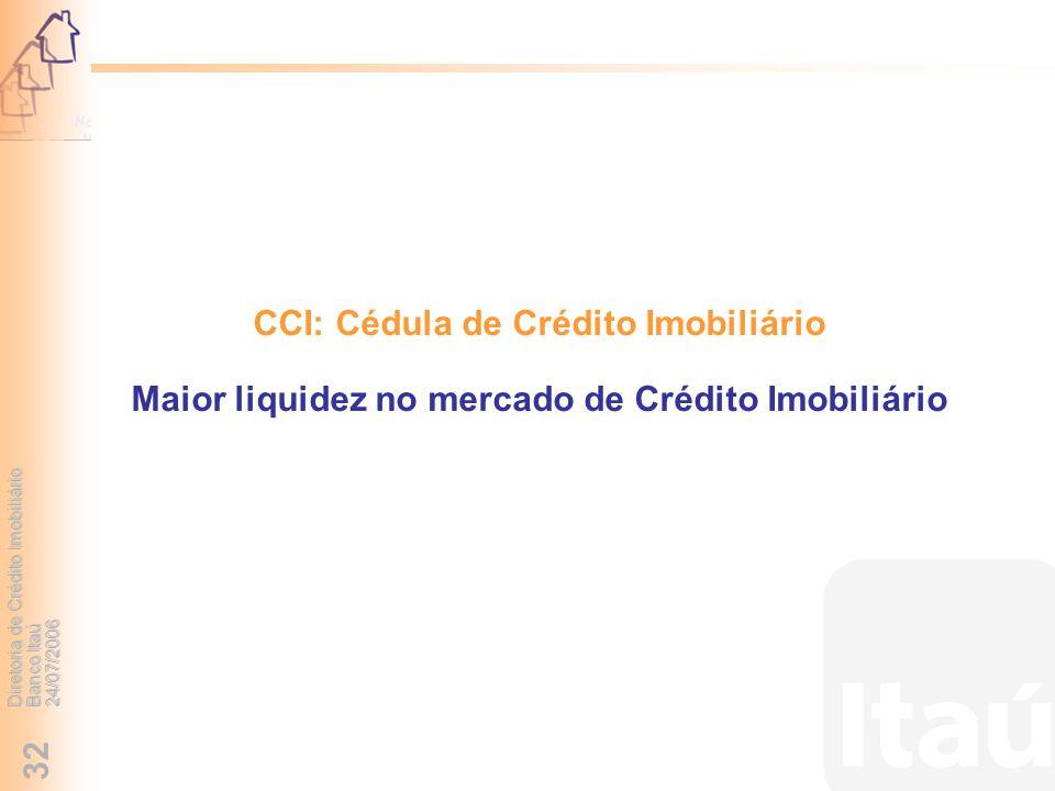CCI: Cédula de Crédito Imobiliário