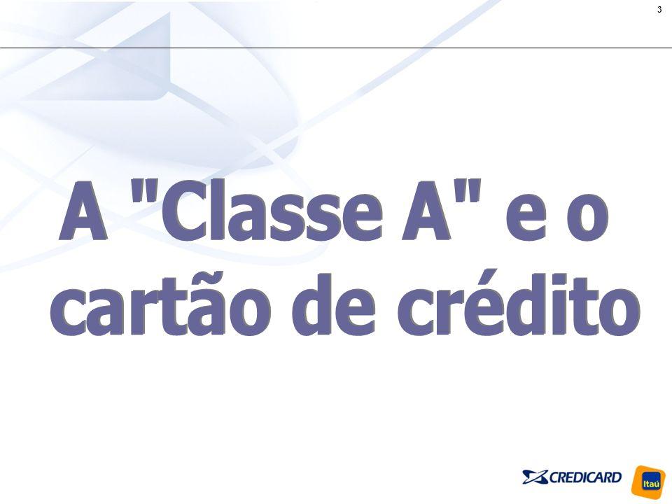 A Classe A e o cartão de crédito