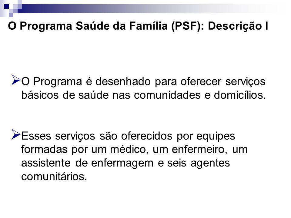 O Programa Saúde da Família (PSF): Descrição I