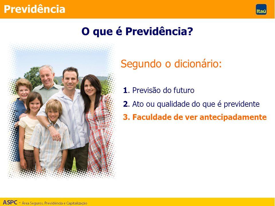 Previdência O que é Previdência Segundo o dicionário: