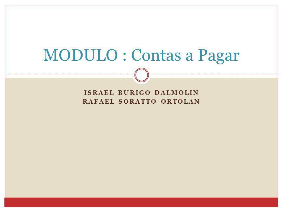 Israel Burigo Dalmolin Rafael Soratto Ortolan