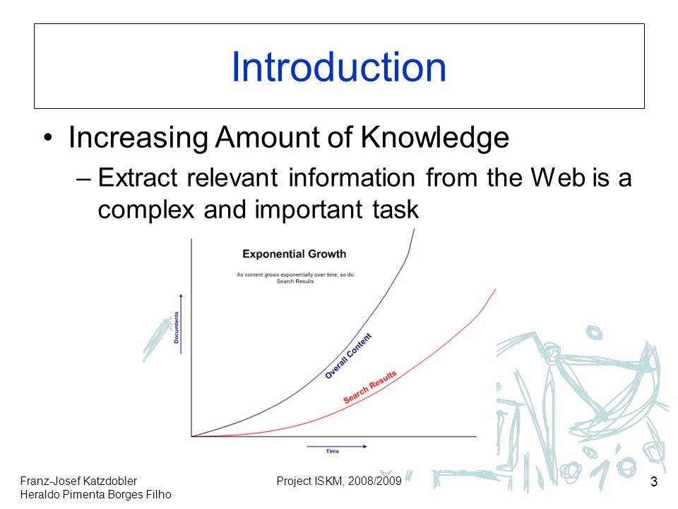 Introduction Increasing Amount of Knowledge
