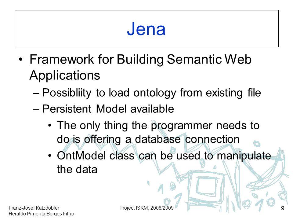 Jena Framework for Building Semantic Web Applications