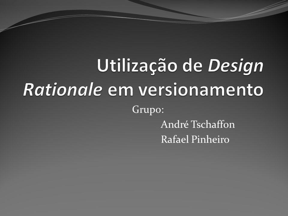 Utilização de Design Rationale em versionamento