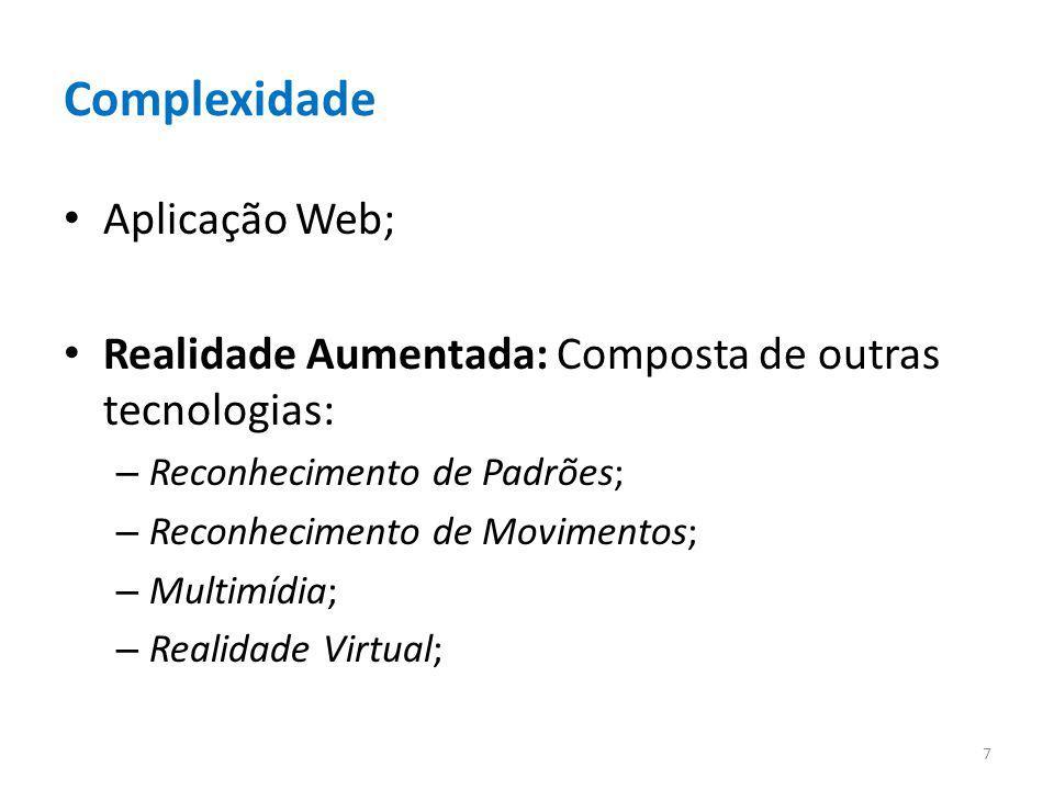 Complexidade Aplicação Web;