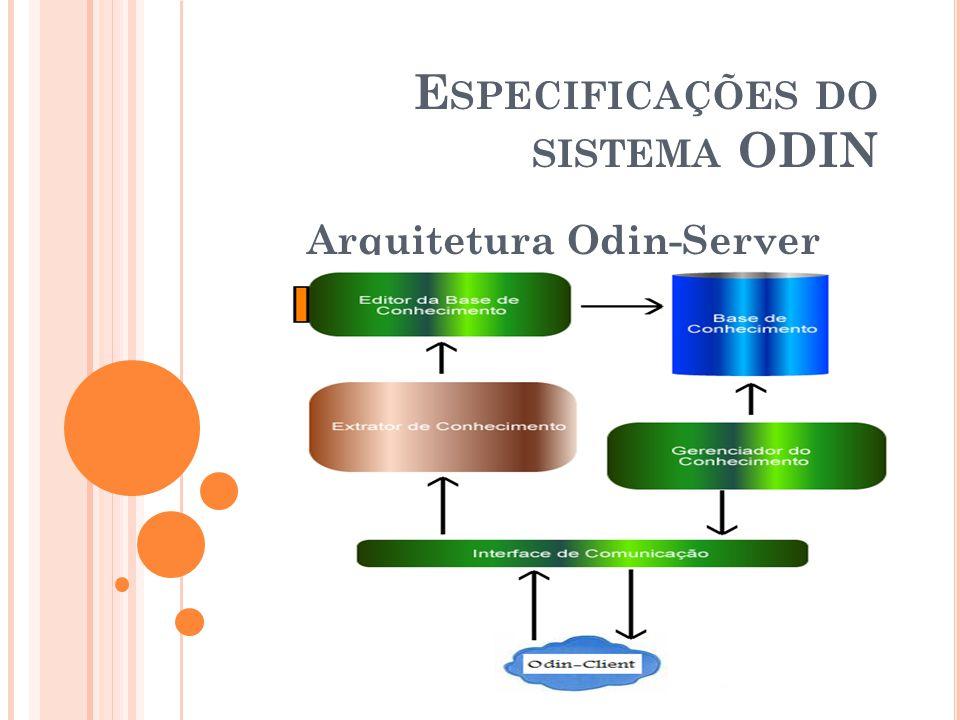 Especificações do sistema ODIN
