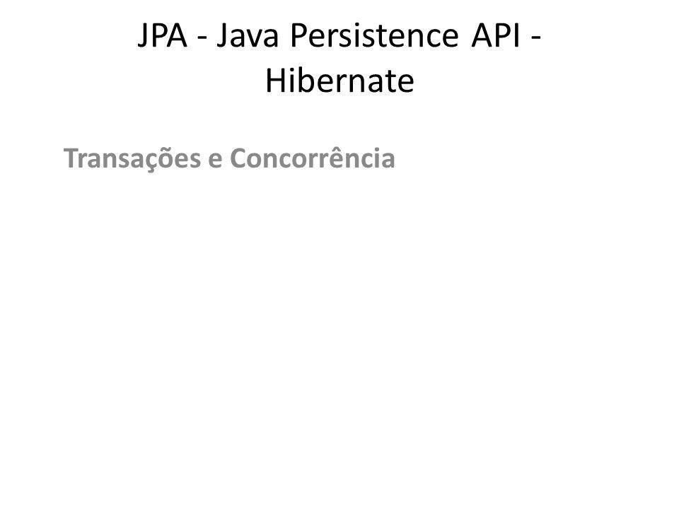 JPA - Java Persistence API - Hibernate