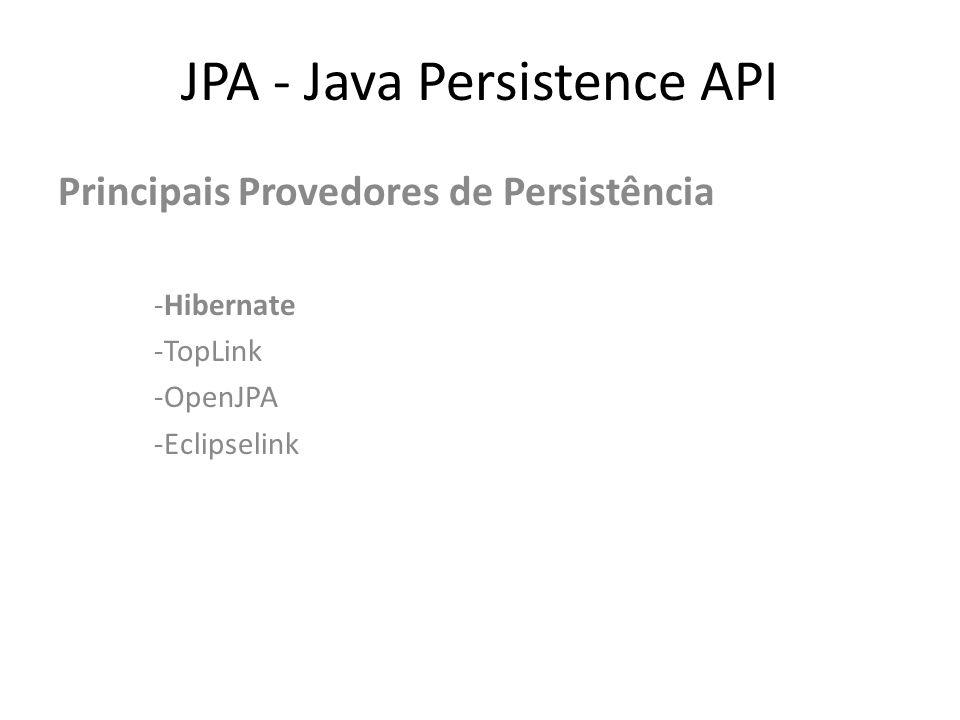 JPA - Java Persistence API