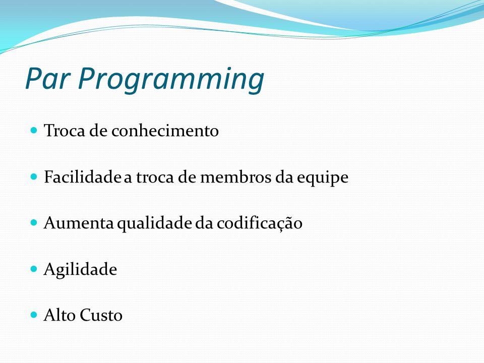 Par Programming Troca de conhecimento