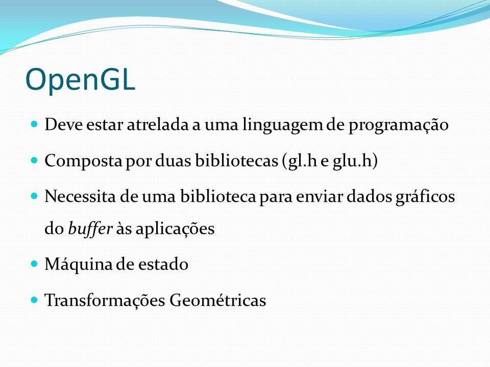 OpenGL Deve estar atrelada a uma linguagem de programação