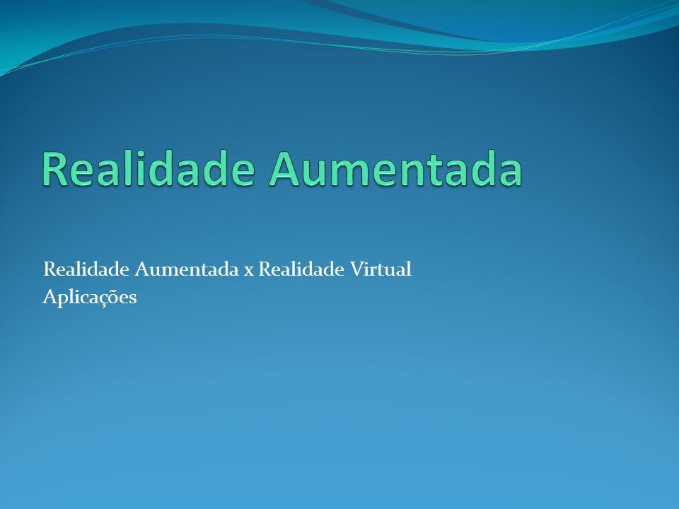 Realidade Aumentada Realidade Aumentada x Realidade Virtual Aplicações