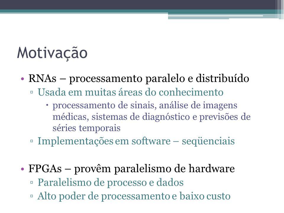Motivação RNAs – processamento paralelo e distribuído