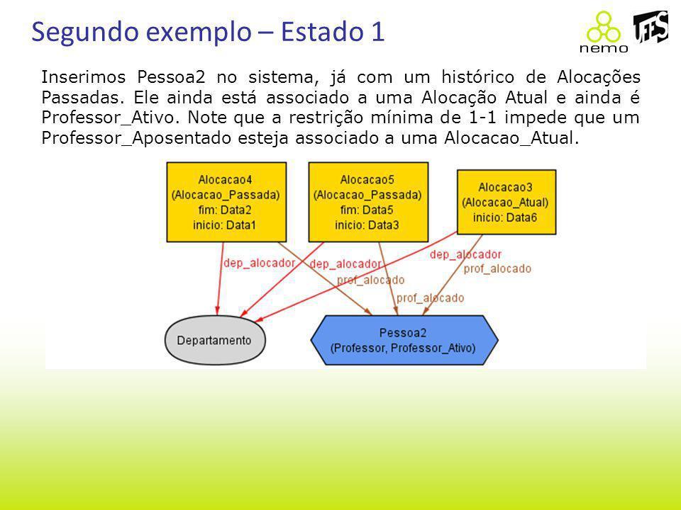 Segundo exemplo – Estado 1