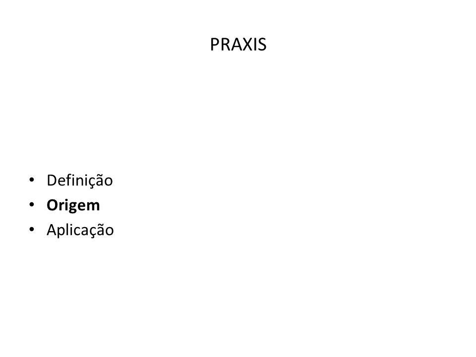 PRAXIS Definição Origem Aplicação