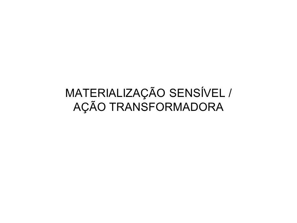MATERIALIZAÇÃO SENSÍVEL / AÇÃO TRANSFORMADORA