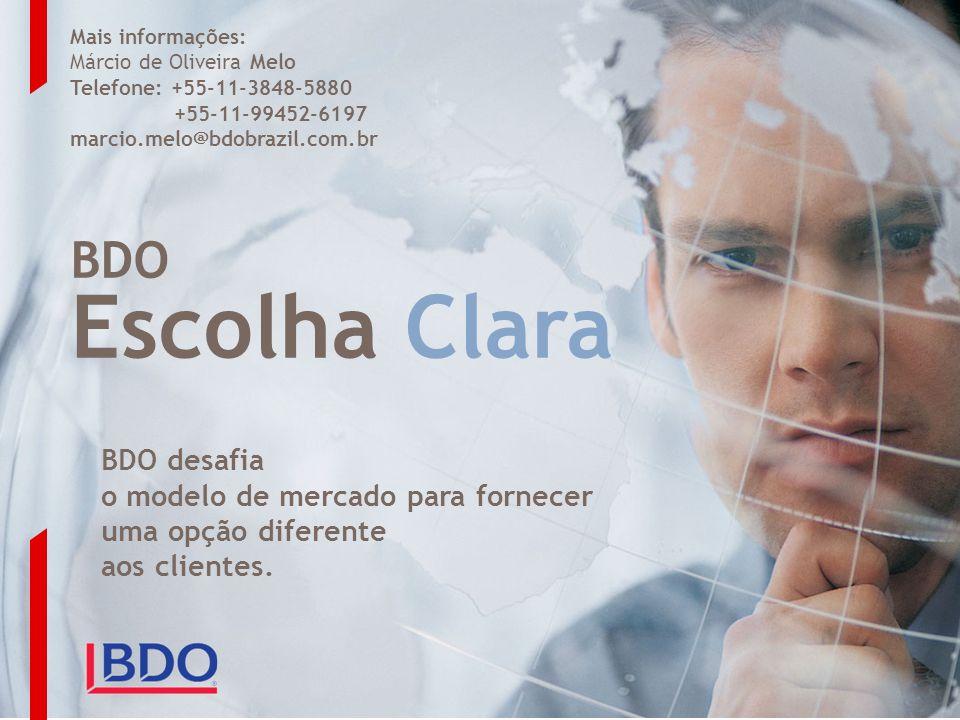 Escolha Clara BDO BDO desafia o modelo de mercado para fornecer