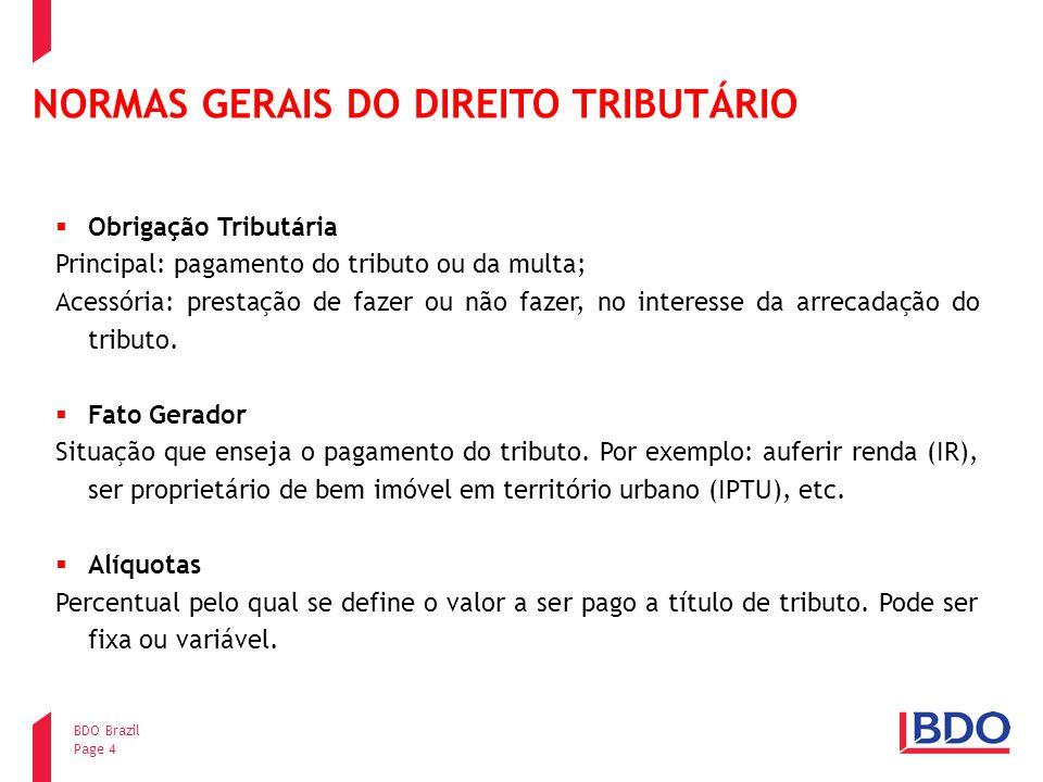 NORMAS GERAIS DO DIREITO TRIBUTÁRIO