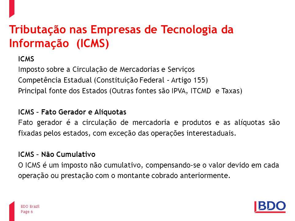 Tributação nas Empresas de Tecnologia da Informação (ICMS)