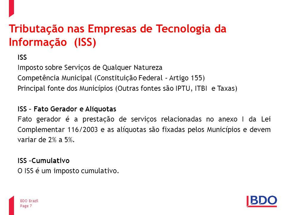 Tributação nas Empresas de Tecnologia da Informação (ISS)