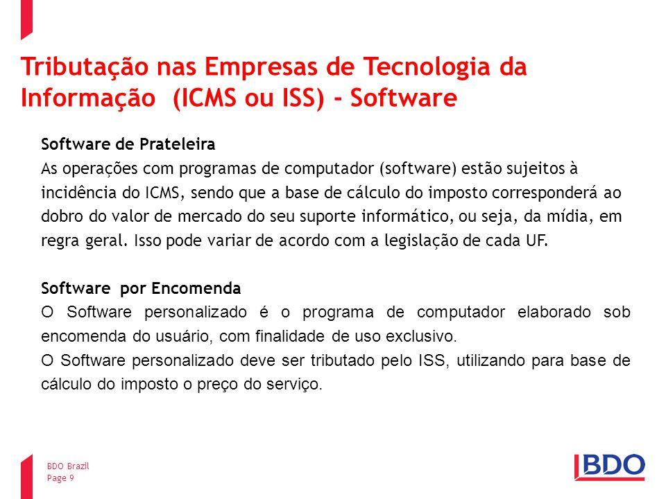 Tributação nas Empresas de Tecnologia da Informação (ICMS ou ISS) - Software
