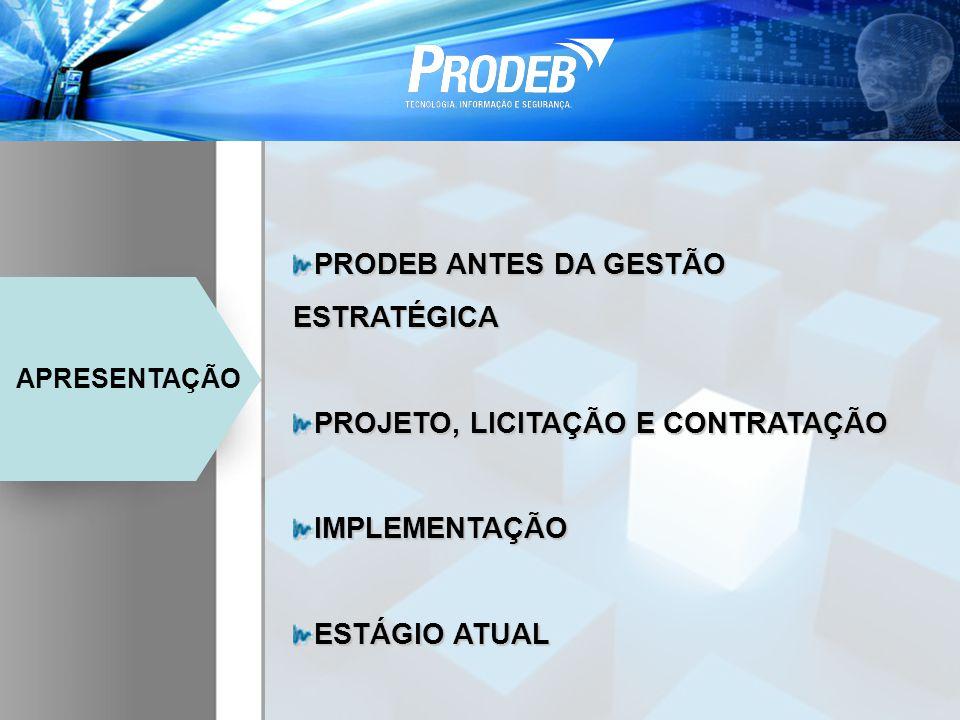 PRODEB ANTES DA GESTÃO ESTRATÉGICA