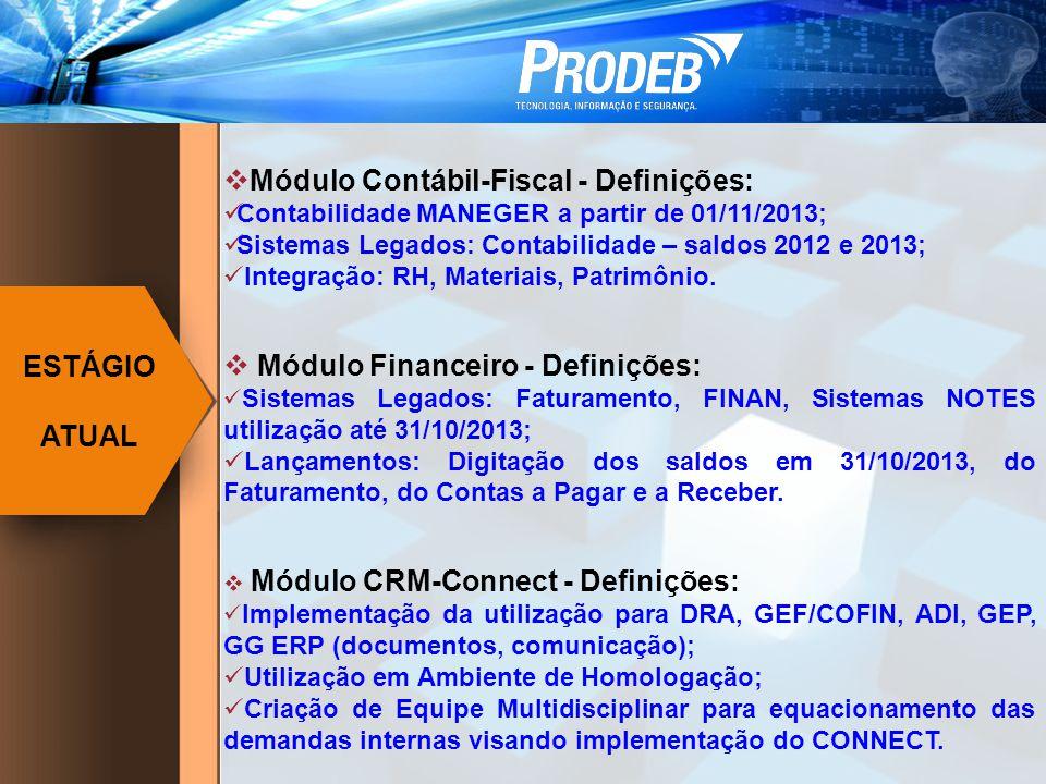 Módulo Contábil-Fiscal - Definições: