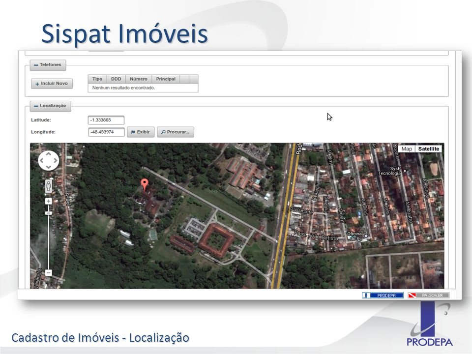 Cadastro de Imóveis - Localização