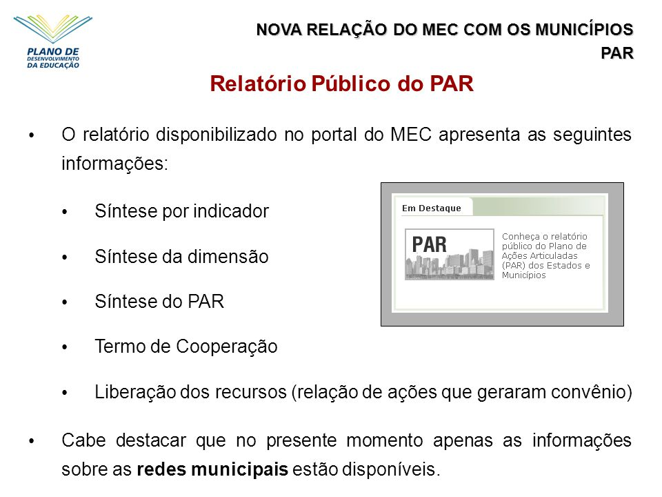 Relatório Público do PAR